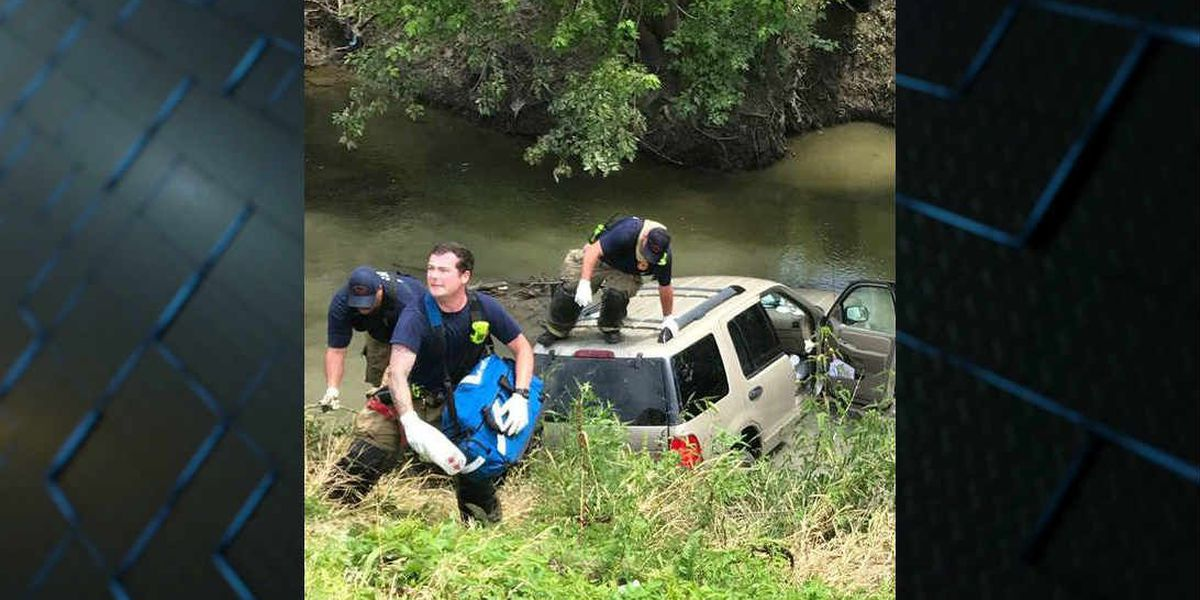 West Memphis Fire Dept. rescues driver from water-filled ditch