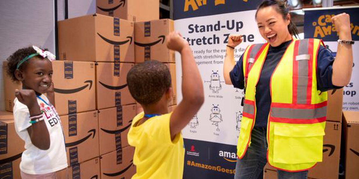 Amazon Goes Gold hosts Camp Amazon for St. Jude patients and families