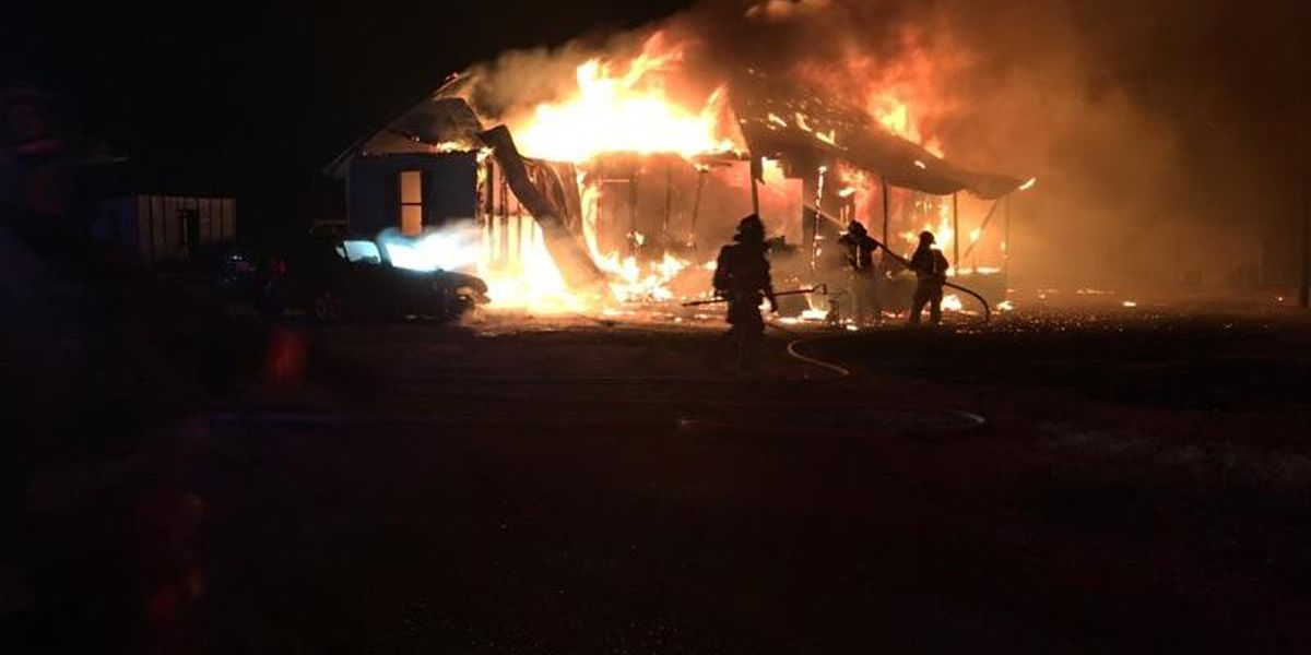 High winds intensify Covington house fire