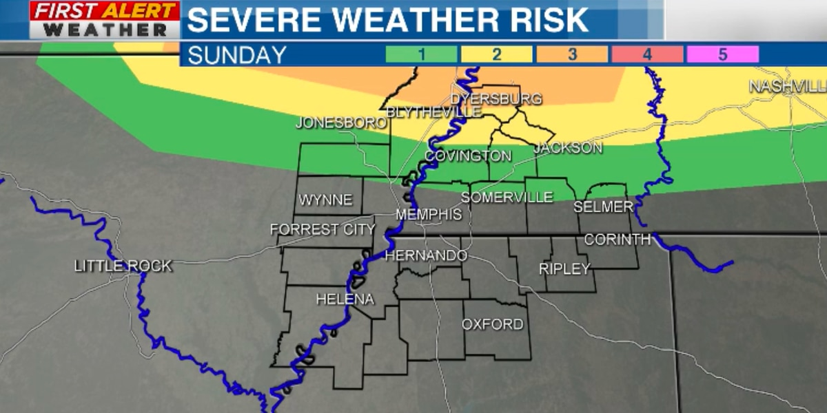 FIRST ALERT: Tracking showers, a few severe storms Sunday & Monday