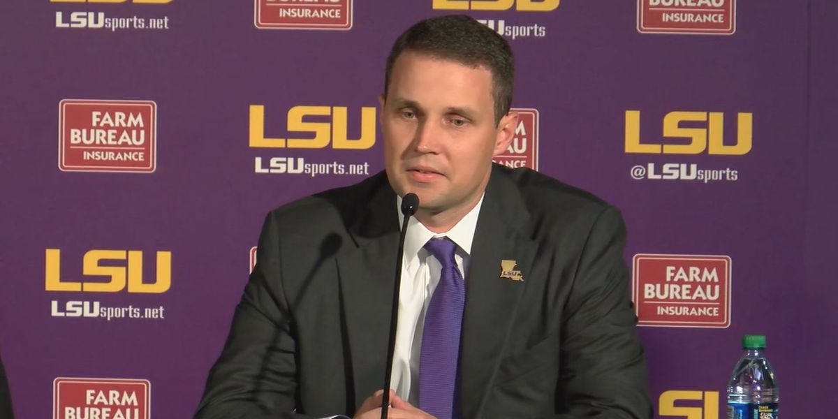LSU coach, athletic director hold emotional news conference on death of Wayde Sims