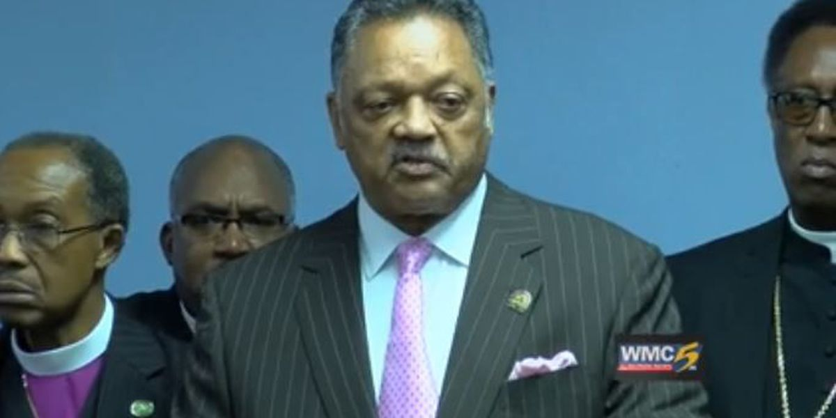 Rev. Jesse Jackson visits Memphis, speaks of health care and Dr. King