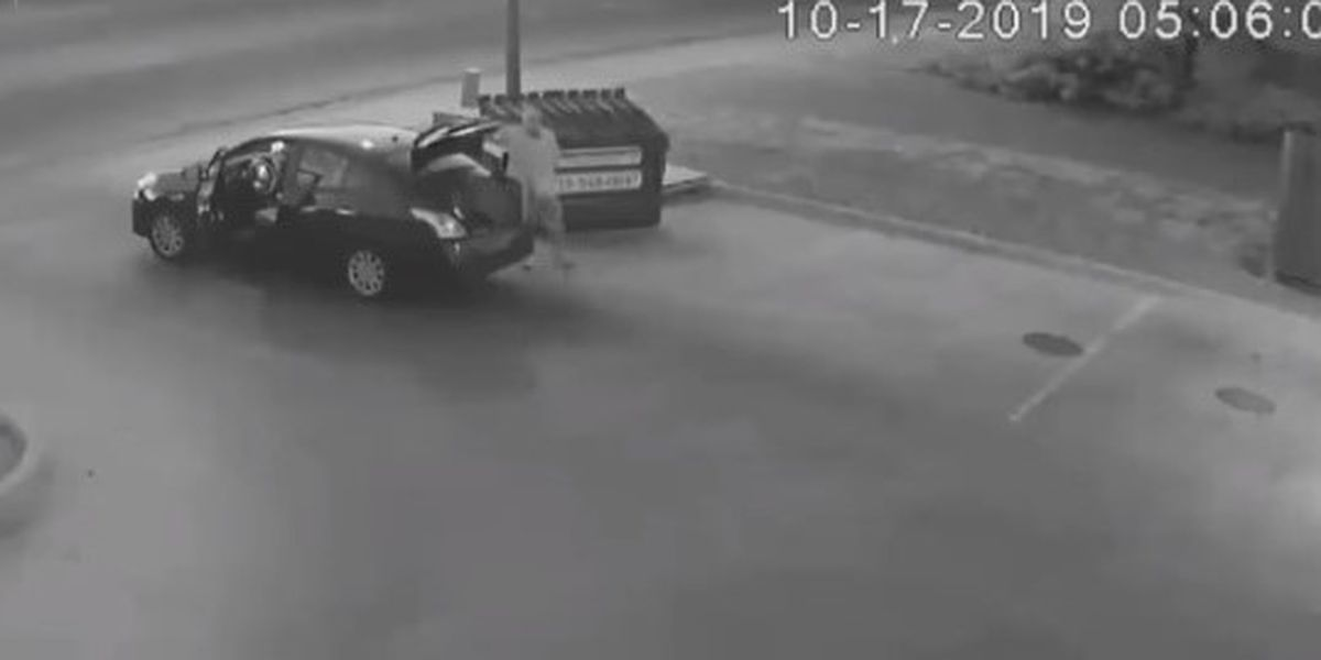 GRAPHIC: Video shows man throw woman's body in dumpster; police capture suspect