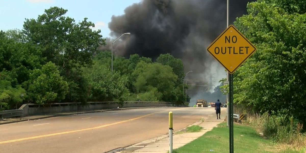 Crews battle massive fire at recycling facility