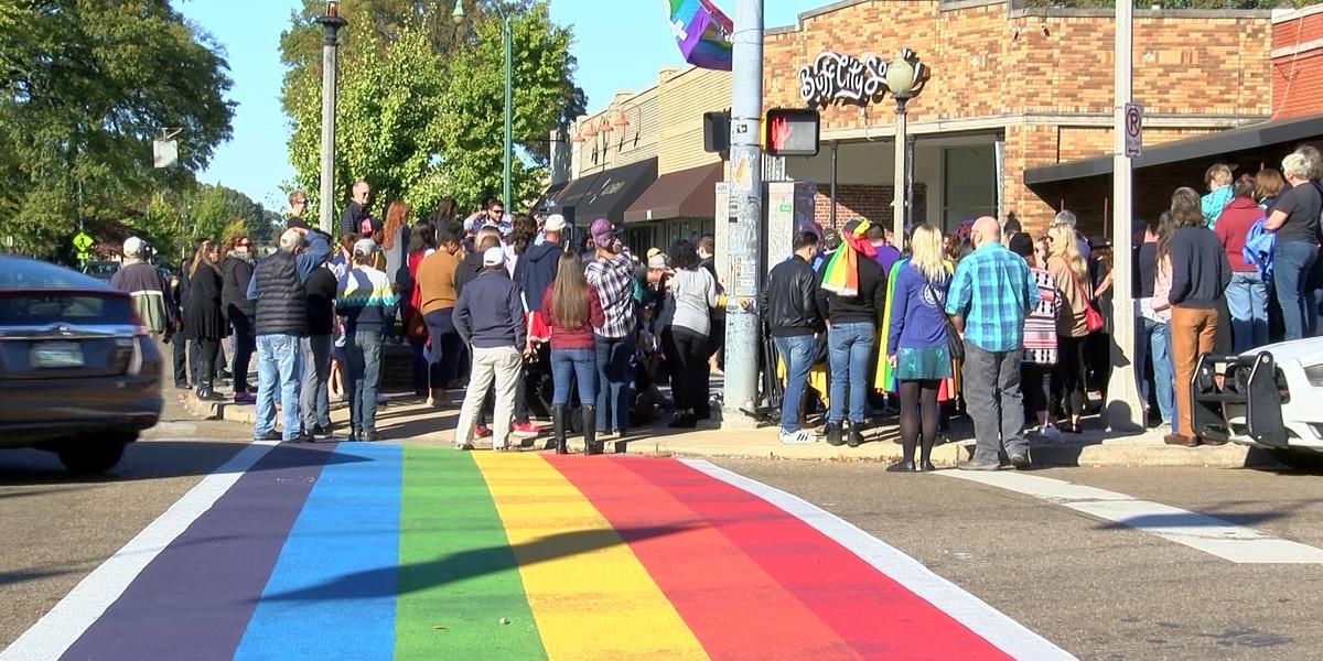 Rainbow crosswalk dedicated in Cooper-Young