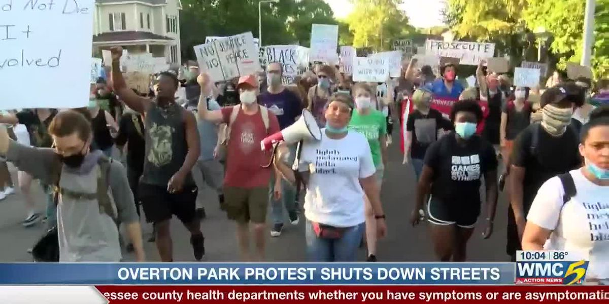 Crowd marches through Midtown Memphis protesting police brutality, racial injustice