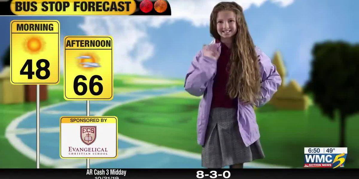 October 22, 2019 bus stop forecast