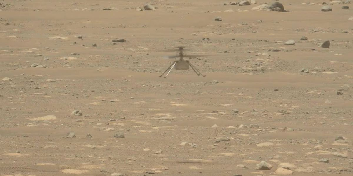 NASA Mars helicopter heard humming through thin Martian air