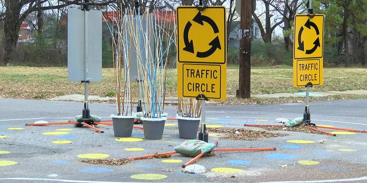 South Memphis testing traffic circle to improve safety
