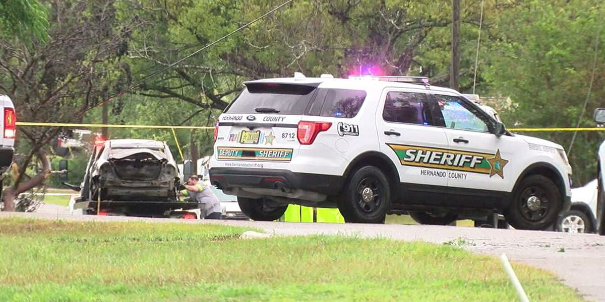 Teen killed after stepping on downed power line while trying to escape burning car
