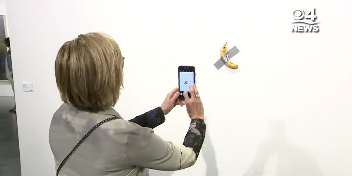 RAW: Banana duct-taped to wall sells for $120,000