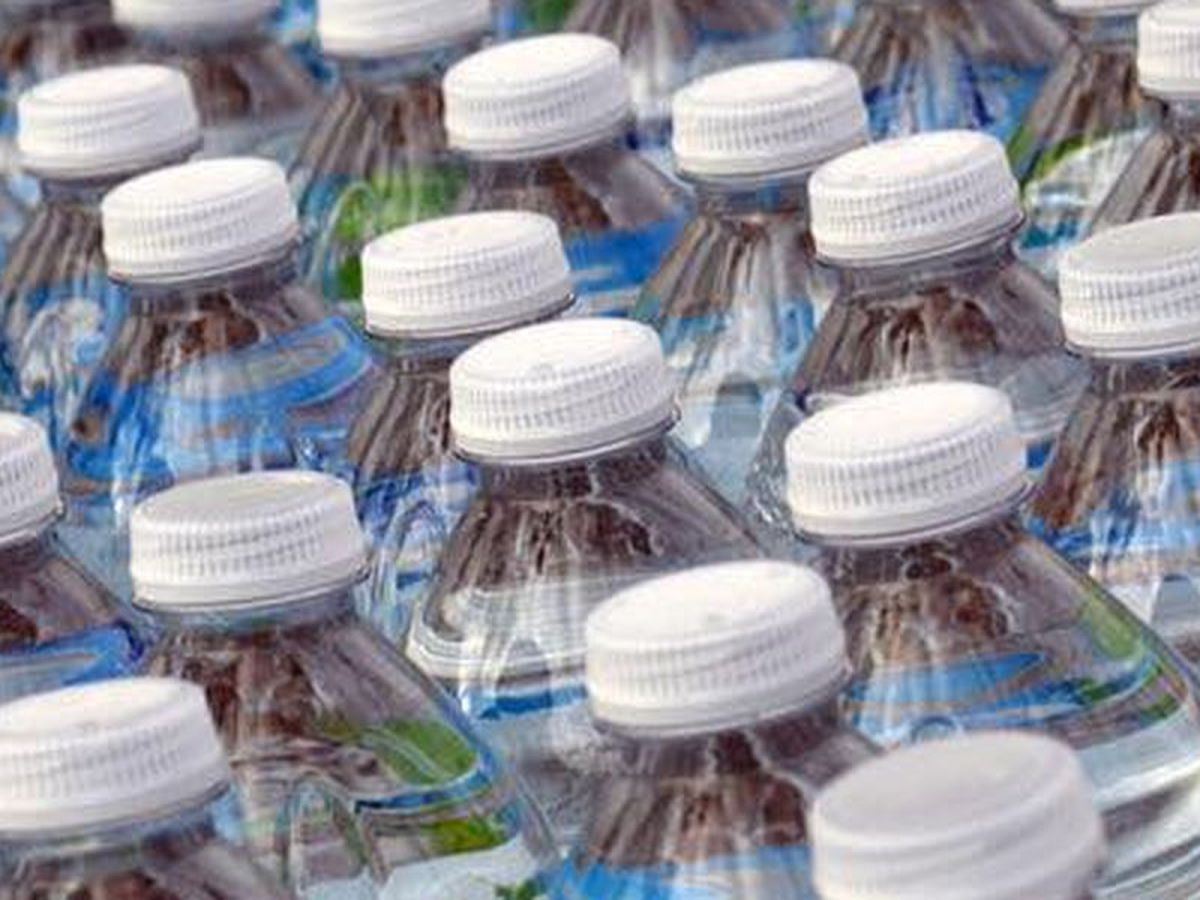 Drive-thru water giveaway today in South Memphis