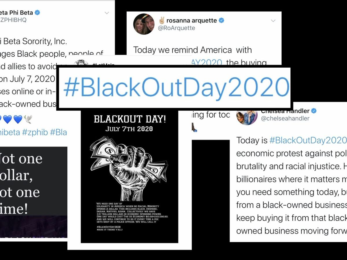 Blackout Day 2020 encourages Black people to flex economic power, support Black-owned businesses