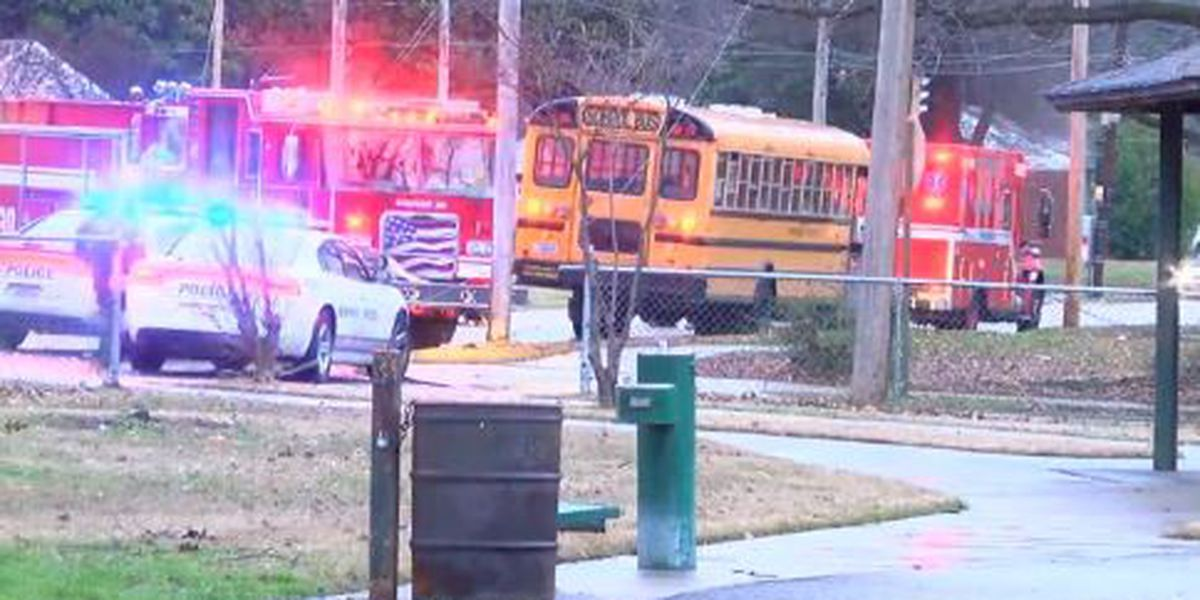 School bus crash in Memphis neighborhood