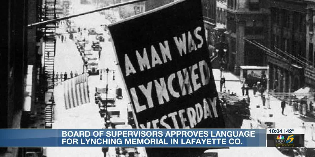 Board of supervisors approves language for lynching memorial in Lafayette County