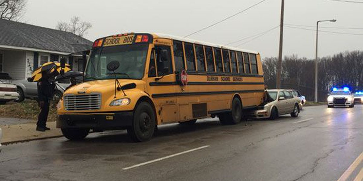 School bus with children on board crashes in Frayser