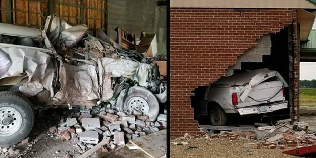 Car crashes into church during police chase; woman killed