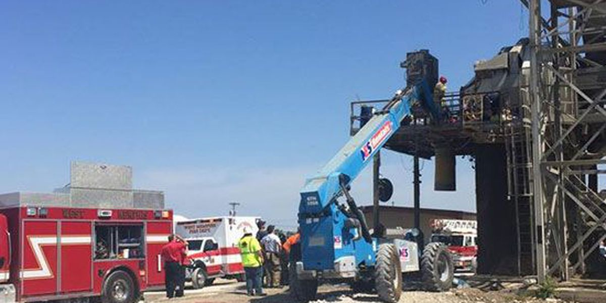 Man rescued from platform at concrete company
