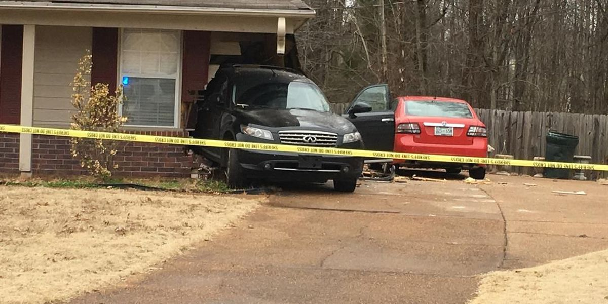 Car slams into neighbor's house during argument