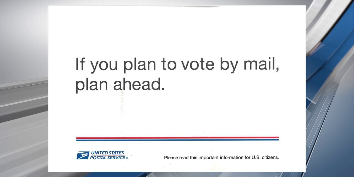 USPS mailers urge voters to plan ahead