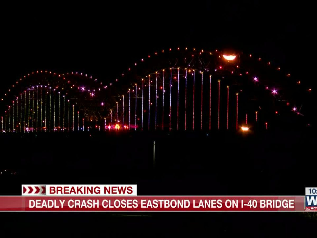 Fatal crash shuts down I-40 bridge at state line