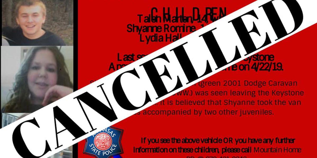 ASP: Missing children found safe