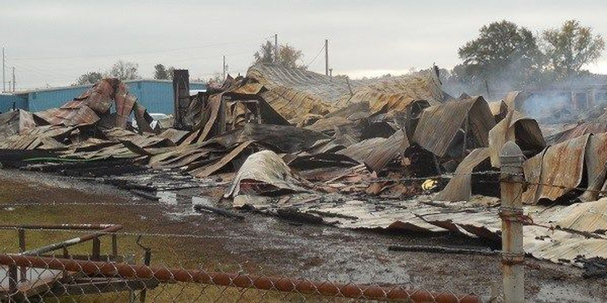 Fire destroys warehouse in Corinth