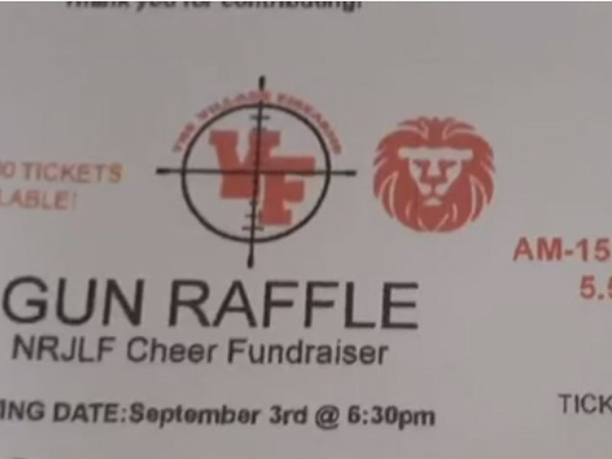 Cheer squad parents asked to sell fundraiser raffle tickets for semi-automatic rifle