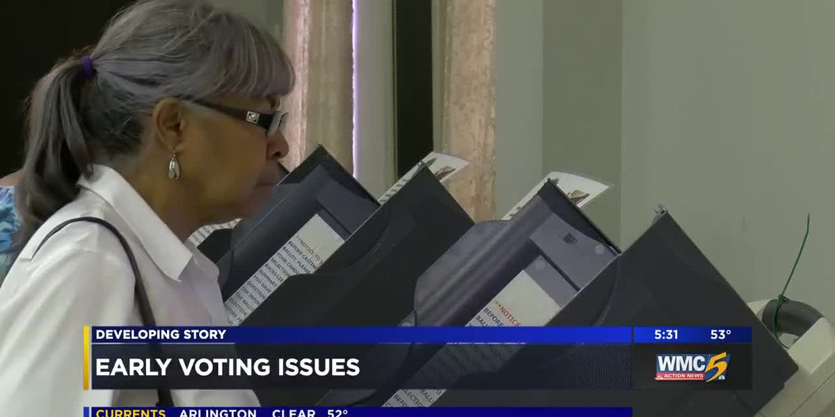 Voting machines bring slow start to early voting