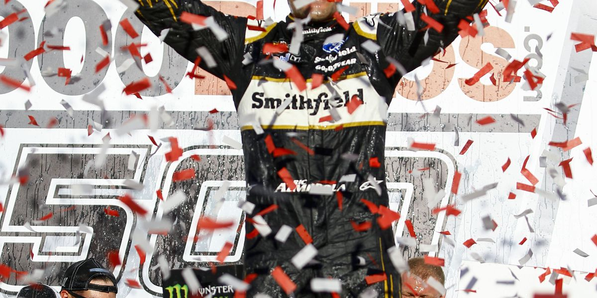 Almirola advances in NASCAR playoffs with Talladega win