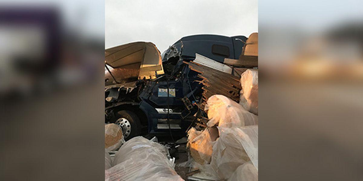 Part of I-40 closed due to crash