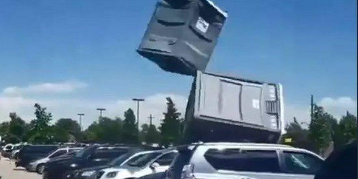 BREAKDOWN: What caused a porta-potty to take flight?