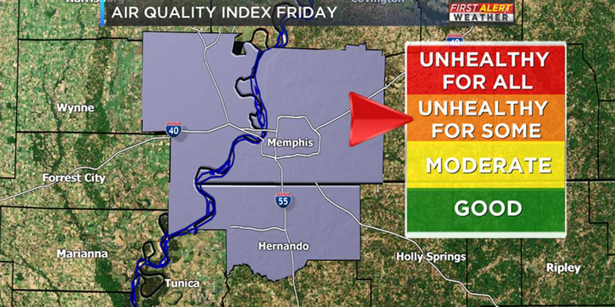 Code Orange Ozone Advisory issued for Memphis