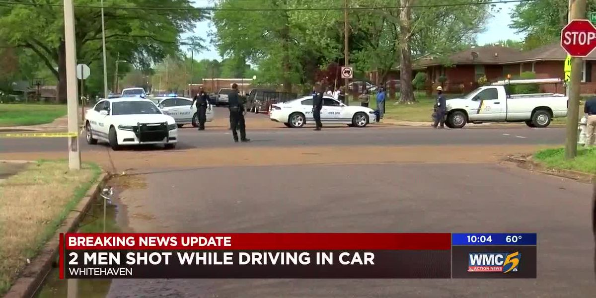 2 men shot while driving in Whitehaven; police searching for suspects