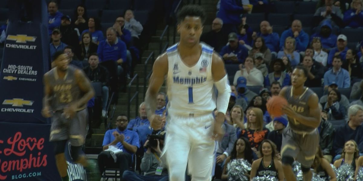 Harris, Davenport lead Memphis past UAB 94-76
