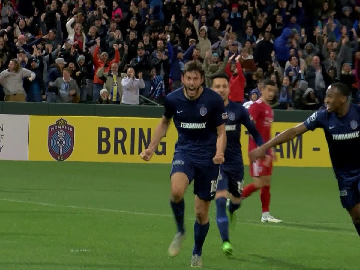 Memphis 901 FC player scores first ever goal in honor of his slain friend