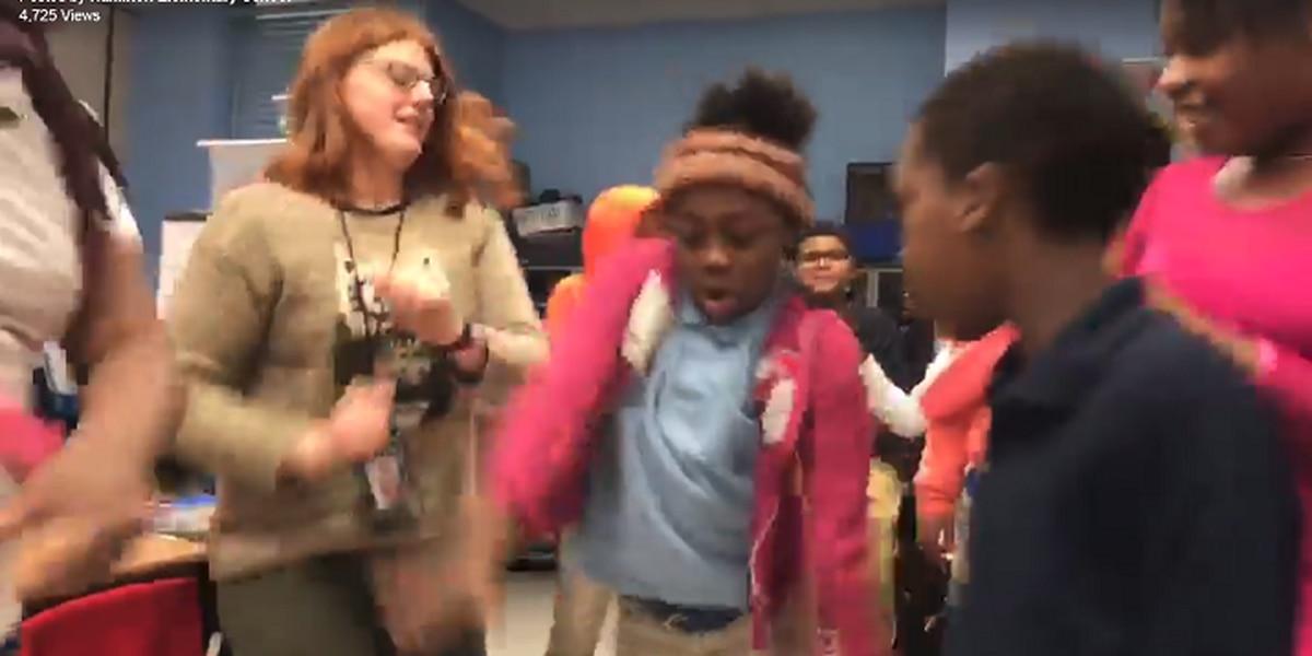 Hamilton Elementary School student makes motivational music video