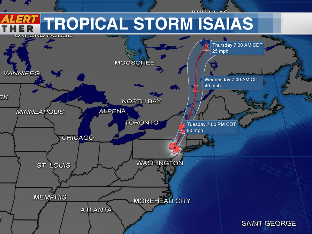 Isaias spawned a deadly tornado & continues up the coast