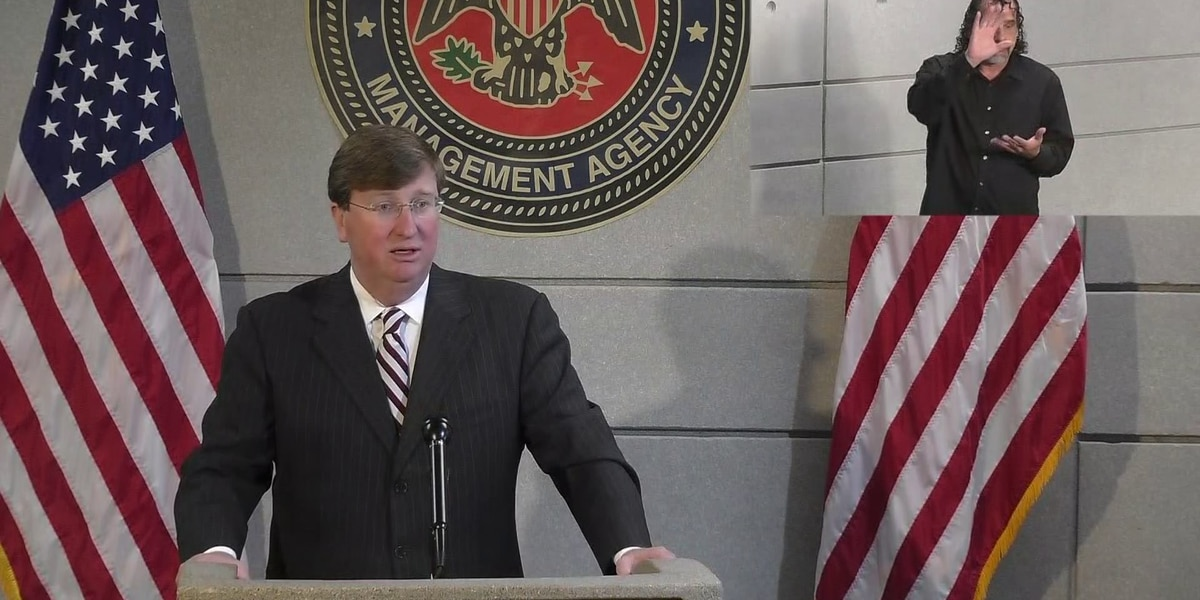 WATCH LIVE at 1:30pm: Gov. Reeves tours Zeta damage in South Mississippi