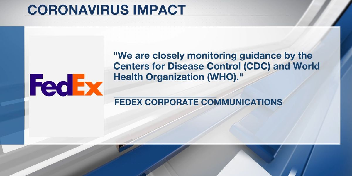 FedEx says China employees temperature checked at work as Coronavirus spreads; Mid-South states remain on alert