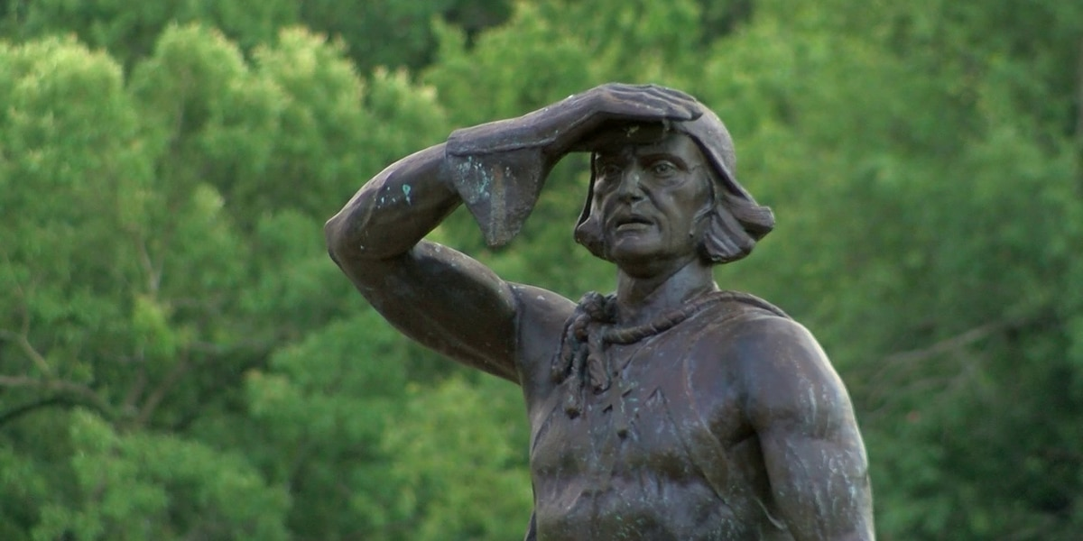 Christopher Columbus statue vandalized, police say