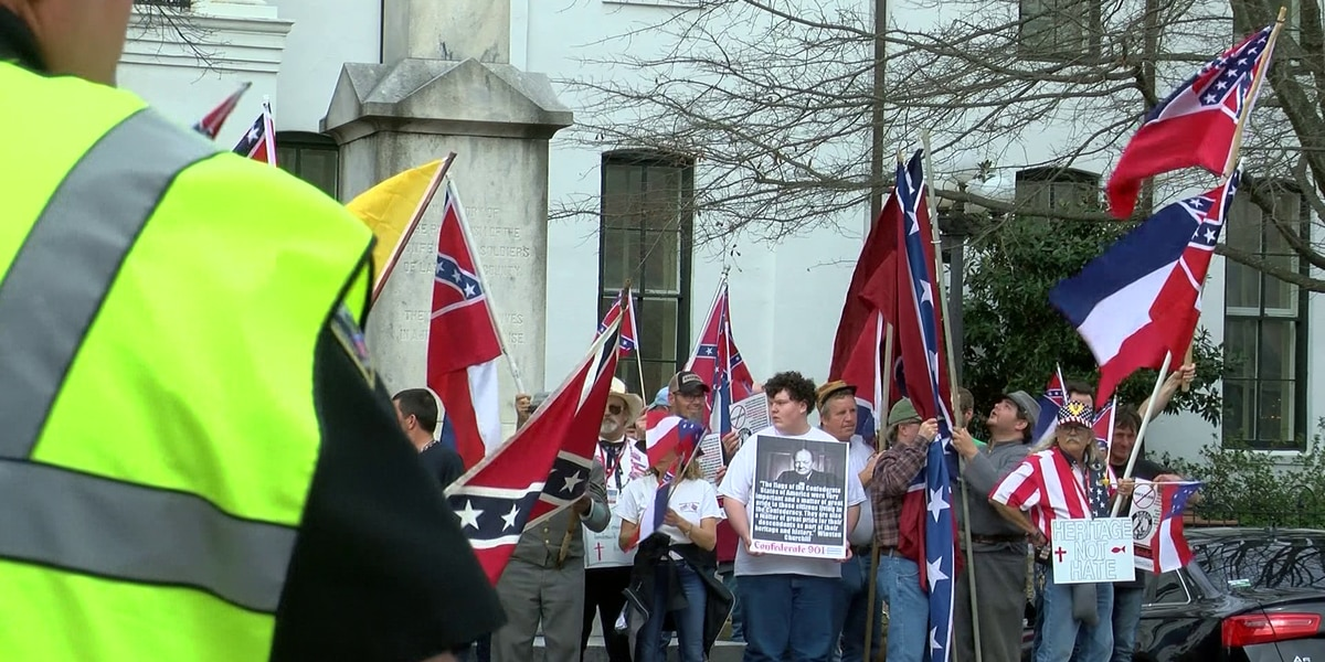 Pro-Confederate rally ends without incident