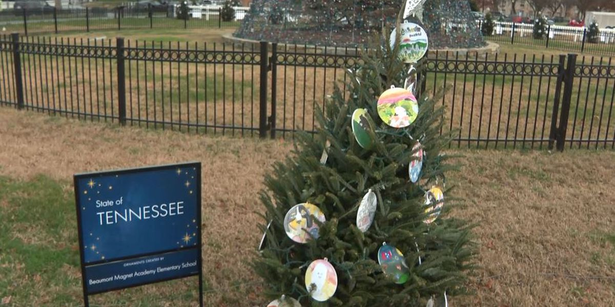 Christmas trees representing the Mid-South featured in Pathway of Peace in national display