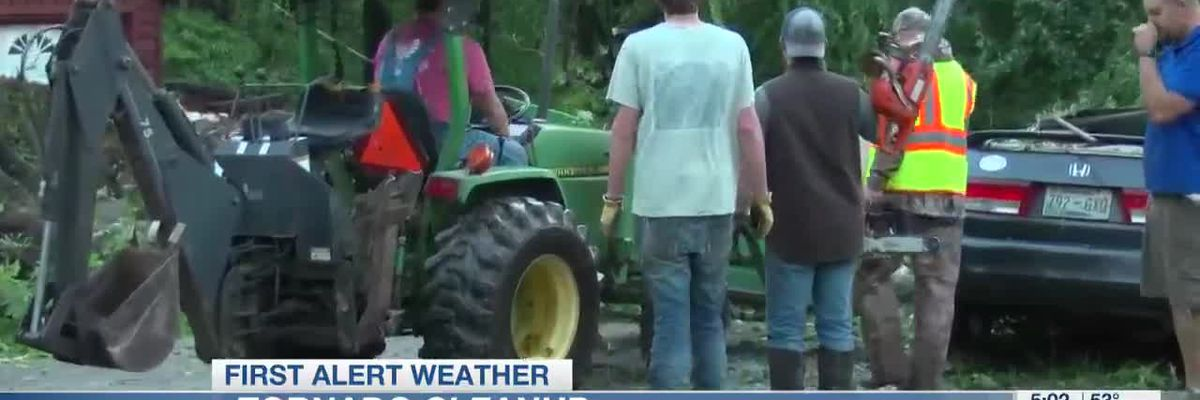 Tornado cleanup in Tipton County