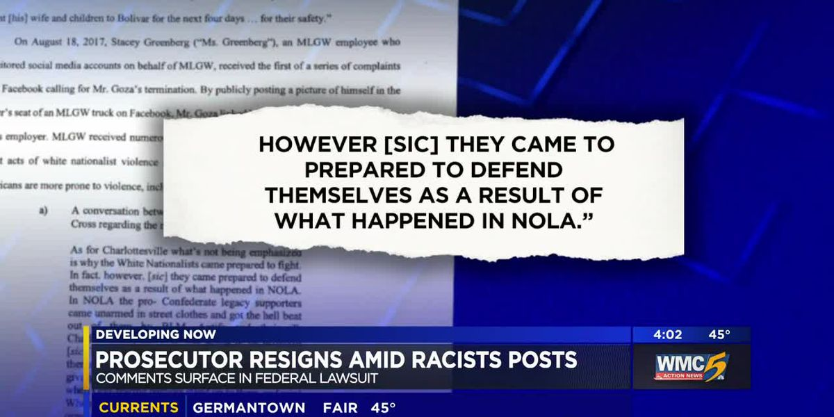 Collierville assistant D.A. off the job after posts show support for white nationalists