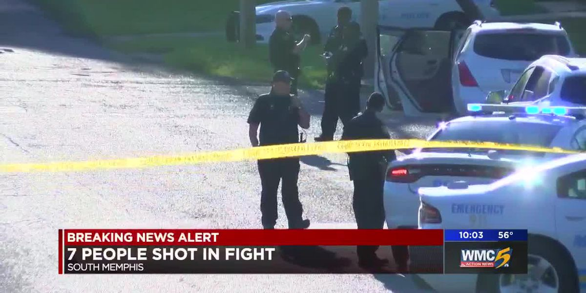 7 people shot in fight