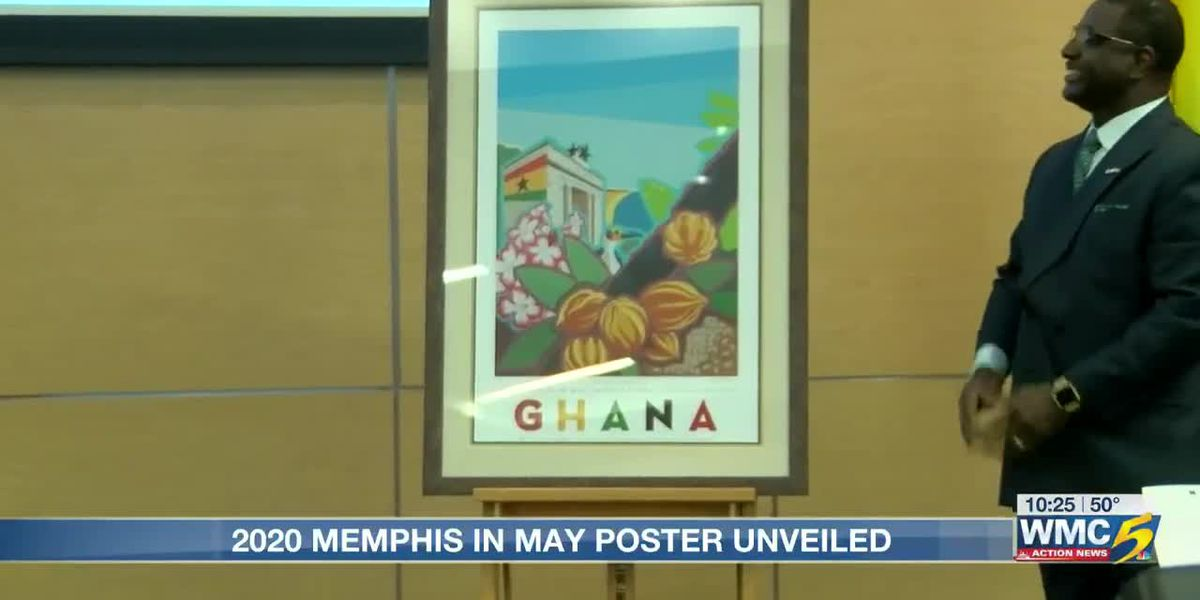 Memphis in May organizers unveil 2020 fine arts poster honoring Ghana