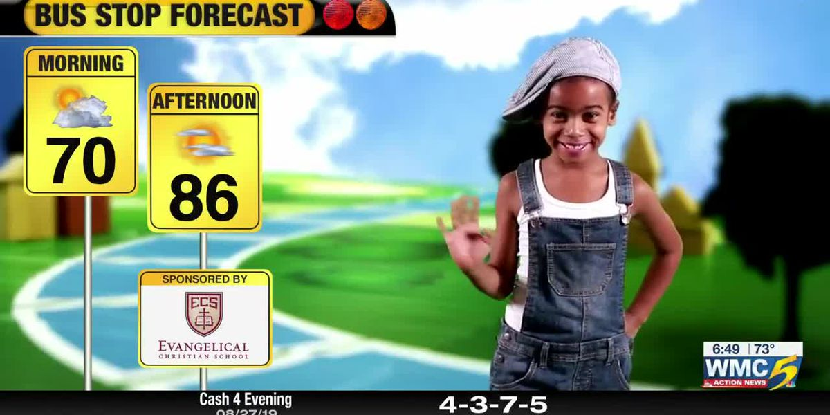 August 28, 2019 bus stop forecast