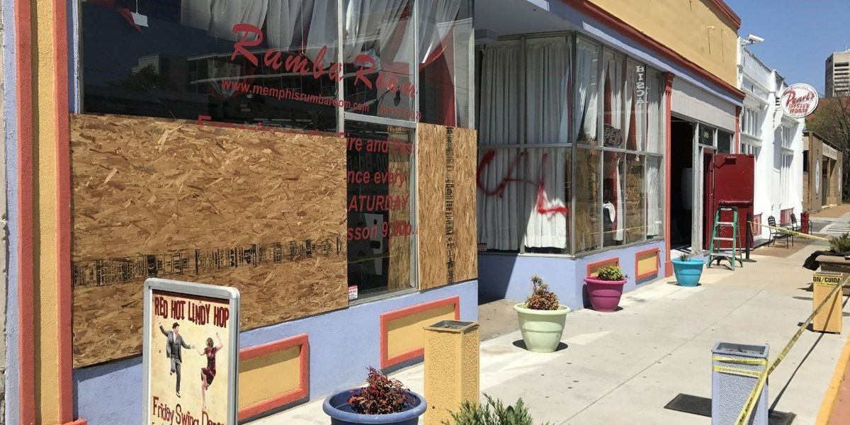 Dance club vandalized early Saturday morning