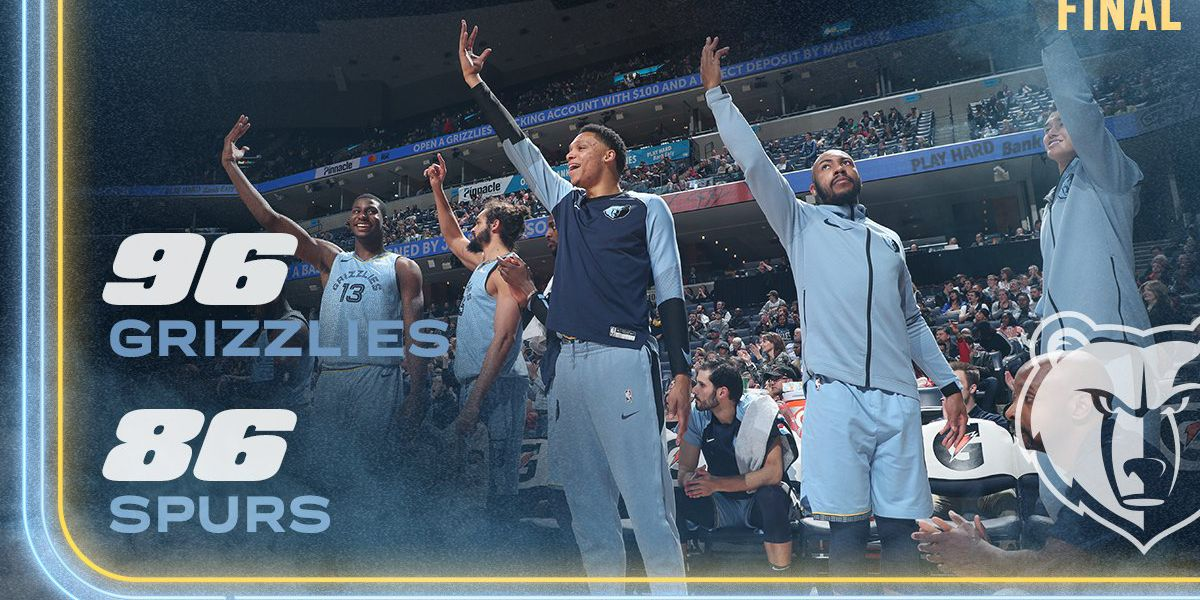 Grizzlies deliver Stone Cold Stunner to Spurs, ending losing streak